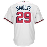Majestic Men's Atlanta Braves John Smoltz #29 Cool Base Replica Jersey with 2015 MLB Hall of Fam