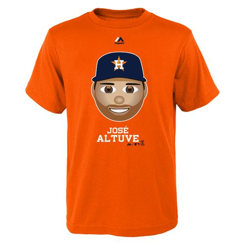 Majestic Boys' Houston Astros José Altuve Emoji T-shirt