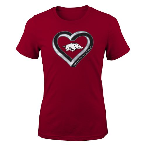 Gen2 Girls' University of Arkansas Infinite Heart Fashion Fit T-shirt
