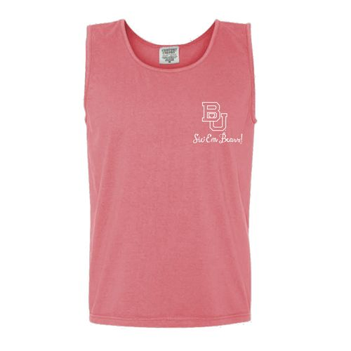 New World Graphics Women's Baylor University Ribbon Chalk Tank Top