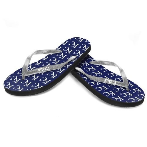 Forever Collectibles™ Women's Kansas City Royals Glitter Logo Flip-Flops