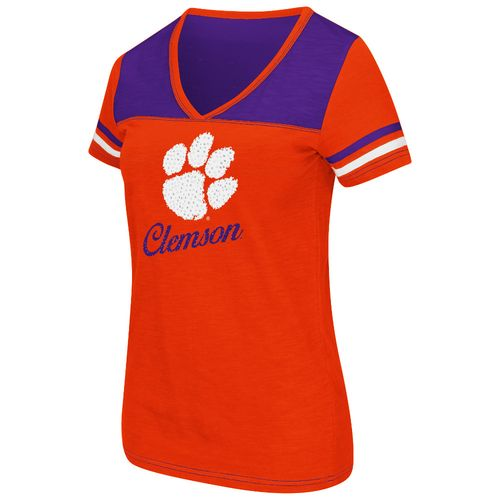 Colosseum Athletics™ Women's Clemson University Rhinestone Short Sleeve T-shirt