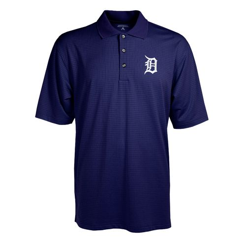 Antigua Men's Detroit Tigers Phoenix Pointelle Polo Shirt