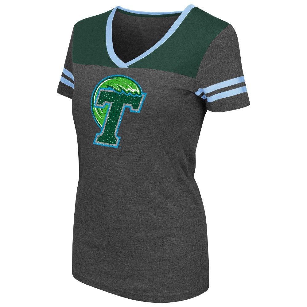 Colosseum Athletics™ Women's Tulane University Twist V-neck T-shirt