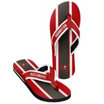 Forever Collectibles™ Men's Tampa Bay Buccaneers 2016 Contour Stripe Flip-Flops