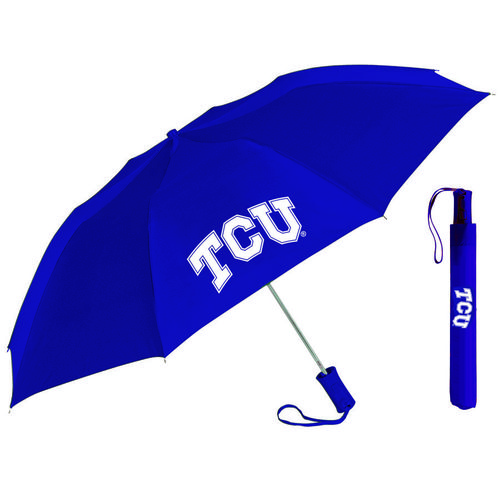 "Storm Duds Adults' Texas Christian University 42"" Automatic Folding Umbrella"
