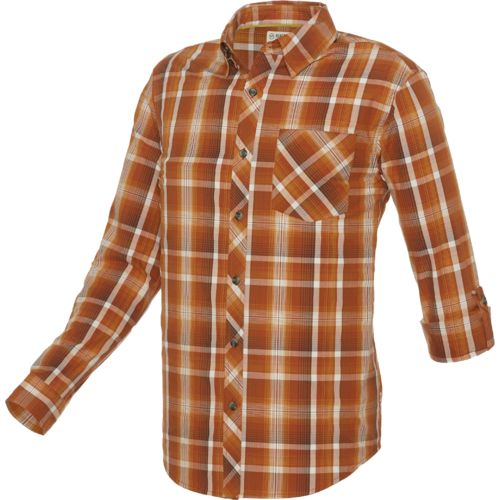 Display product reviews for Magellan Outdoors Men's Woodlake Plaid Long Sleeve Shirt
