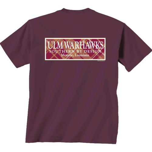 New World Graphics Women's University of Louisiana at Monroe Madras T-shirt