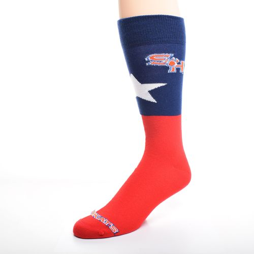FBF Originals Men's Sam Houston State University Texas Pride Flag Top Dress Socks