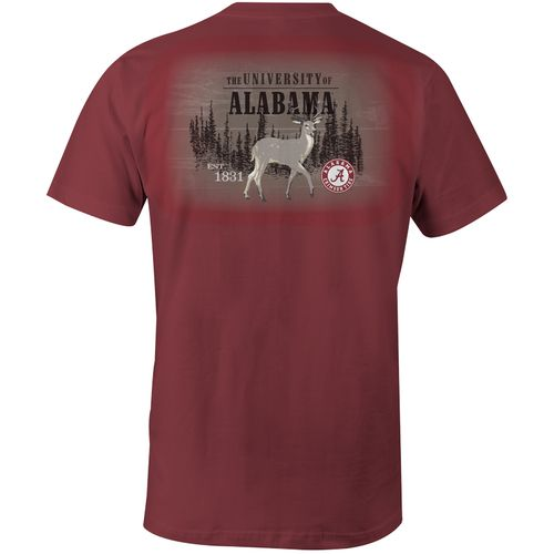 Image One Men's University of Alabama Deer Slab Comfort Color T-shirt