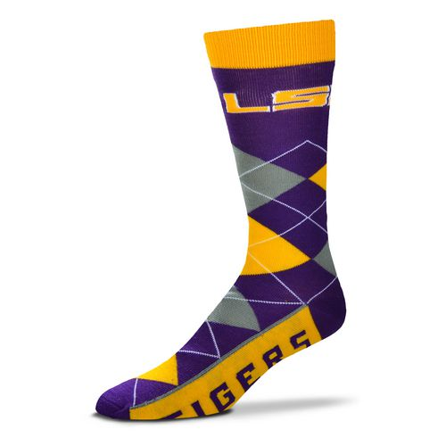 For Bare Feet Unisex Louisiana State University Team Pride Flag Top Dress Socks