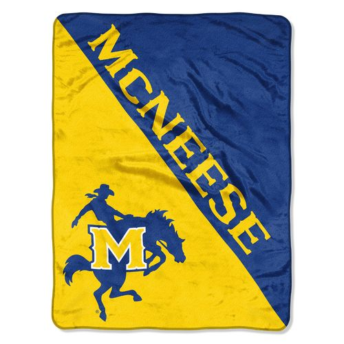 The Northwest Company McNeese State University Halftone Micro Raschel Throw - view number 1