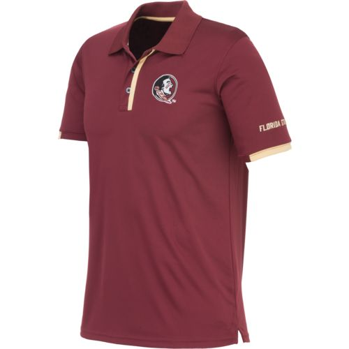Majestic Men's Florida State University Section 101 Colorblock Synthetic Polo Shirt