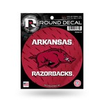 Rico University of Arkansas Round Decal - view number 1