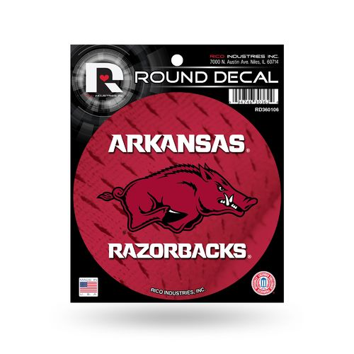 Rico University of Arkansas Round Decal