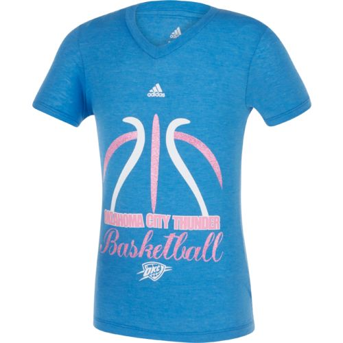 adidas Girls' Oklahoma City Thunder Bird of Paradise T-shirt