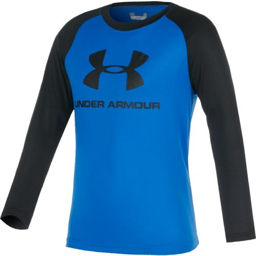 Under Armour Boys' Big Logo Raglan Long Sleeve T-shirt