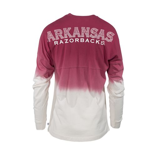 NCAA Women's University of Arkansas Ombré Tribal Football T-shirt