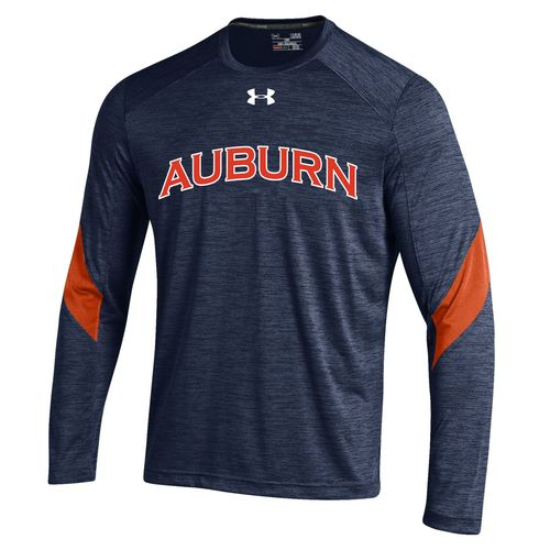 Under Armour™ Boys' Auburn University Long Sleeve Microstripe T-shirt