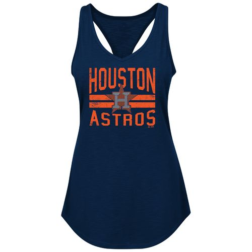 Majestic Women's Houston Astros Four Seamer Tank Top - view number 1