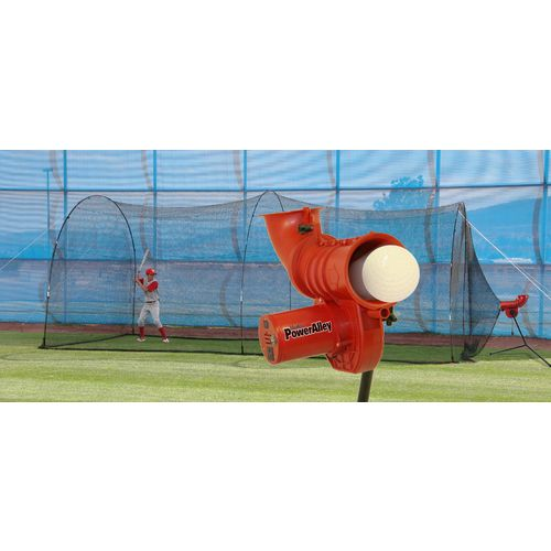 Display product reviews for Heater Sports Power Alley 11 in Softball Pitching Machine and Power Alley 22 ft Cage