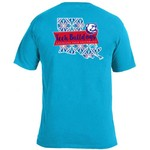 Image One Women's Louisiana Tech University Pattern Scroll State T-shirt - view number 1