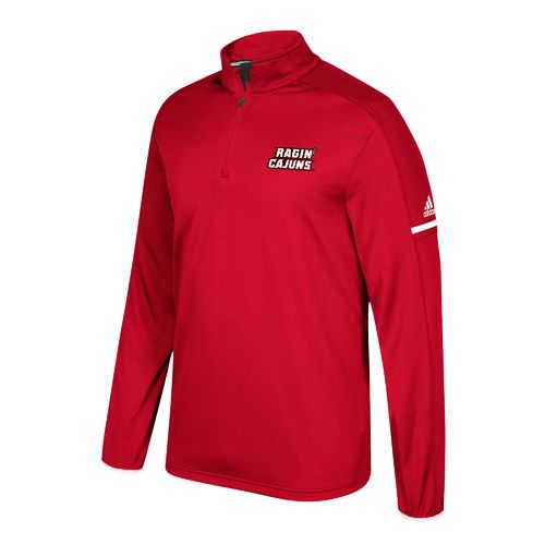 adidas Men's University of Louisiana at Lafayette Sideline 1/4 Zip Pullover