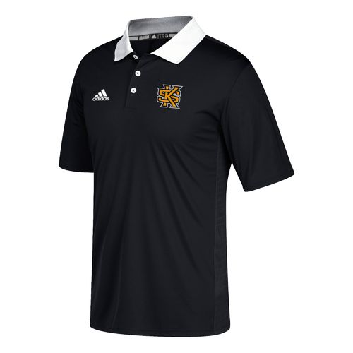 adidas Men's Kennesaw State University Sideline Coaches Polo Shirt
