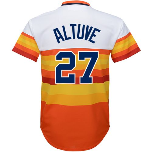 Majestic Boys' Houston Astros Coop Jose Altuve Cool Base Jersey