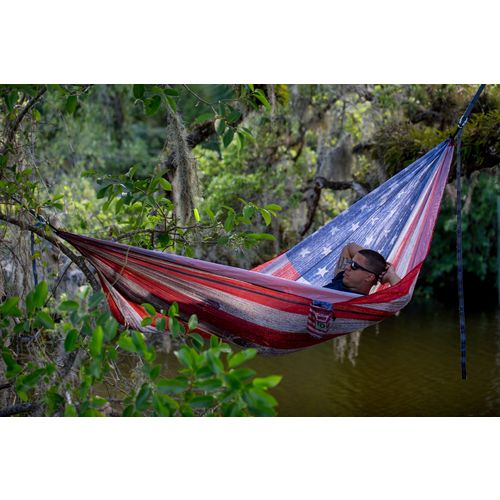 Twisted Root Design Twisted Print USA Wood Flag Hammock - view number 4