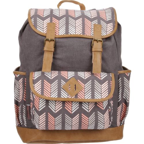 Emma & Chloe Girls' Vinyl-Base Cotton Backpack