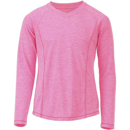 BCG Girls' Turbo Heather V-neck Training Shirt