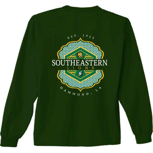 New World Graphics Women's Southeastern Louisiana University Faux Pocket Long Sleeve T-shirt