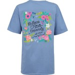 New World Graphics Women's McNeese State University Comfort Color Circle Flowers T-shirt - view number 1