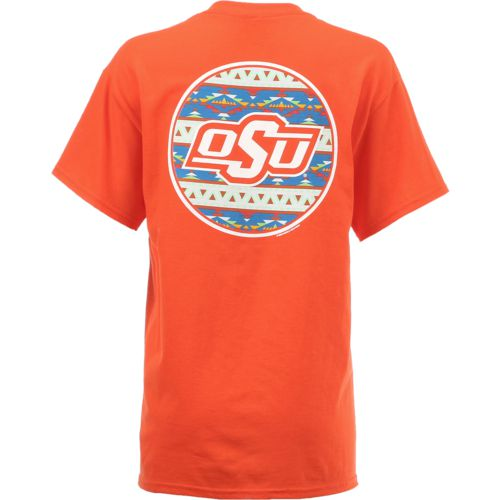 New World Graphics Women's Oklahoma State University Logo Aztec T-shirt