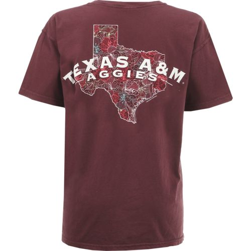 New World Graphics Women's Texas A&M University Comfort Color Puff Arch T-shirt