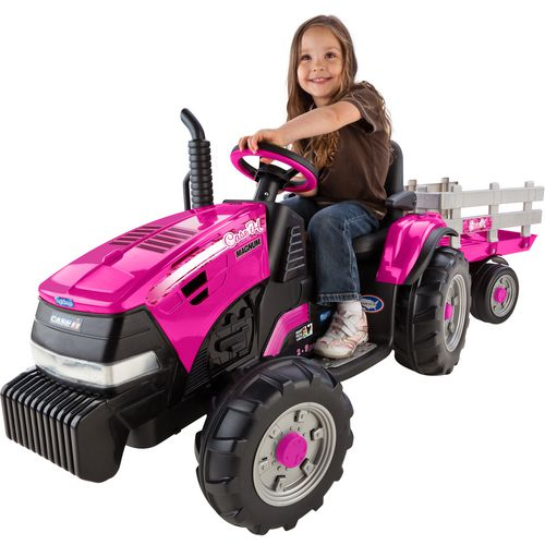 Peg Perego Girls' Case IH Magnum 12 V Ride-On Tractor and Trailer - view number 1
