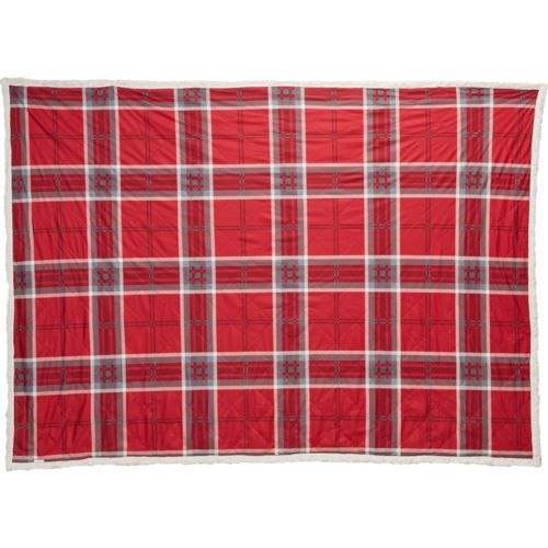 Alpine Lodge 50 in x 70 in Red Multi-Plaid Microflannel to Sherpa Reversible Throw