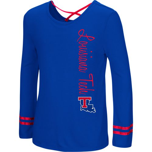 Colosseum Athletics Girls' Louisiana Tech University Marks the Spot Strappy Back Long Sleeve T-shirt