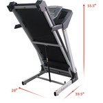 Sunny Health & Fitness Smart Treadmill with Auto Incline - view number 11