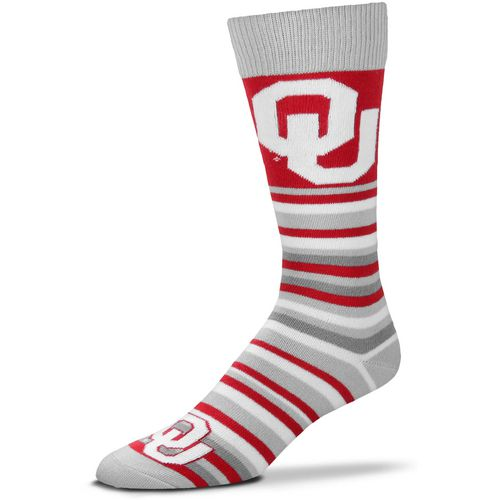 For Bare Feet University of Oklahoma Lotta Stripe Thin Knee High Dress Socks