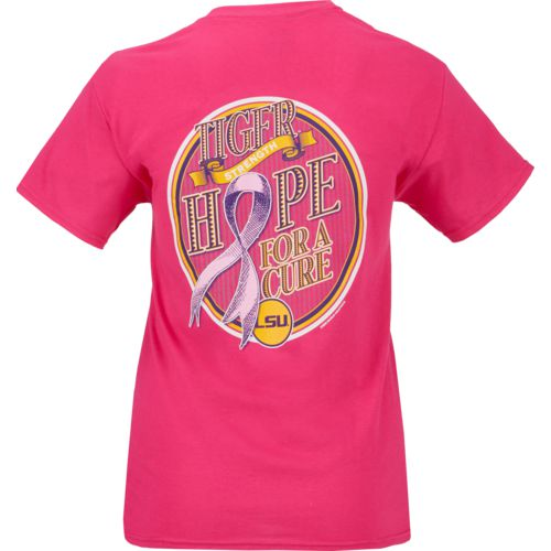 New World Graphics Women's Louisiana Tech University Breast Cancer Hope T-shirt