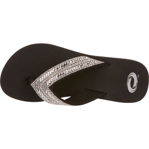 O'Rageous Women's Bling Wedge Flip-Flops - view number 4