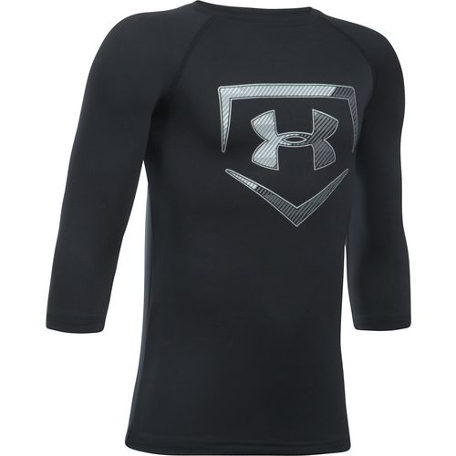 Under Armour Boys' Plate Icon 3/4 Sleeve Shirt