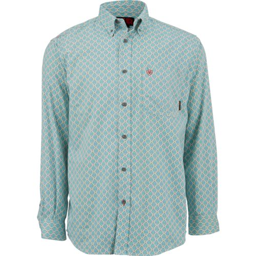 Ariat Men's Shreve Print Flame-Resistant Button-Down Shirt