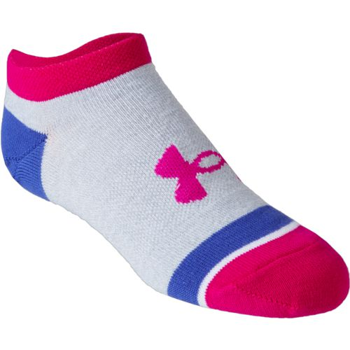 Under Armour Kids' Essential Mix and Match Training No-Show Assorted Socks 6 Pack