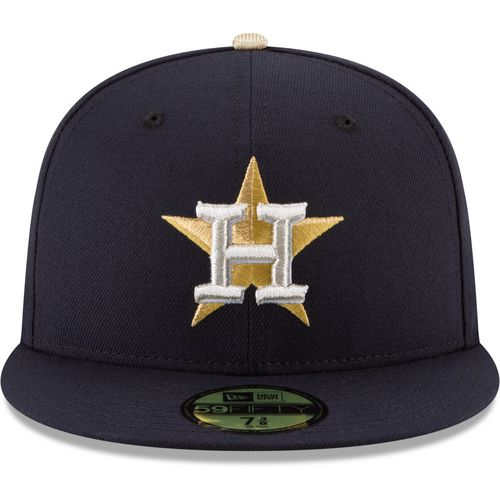 New Era Men's Houston Astros Gold Patch 59FIFTY Cap