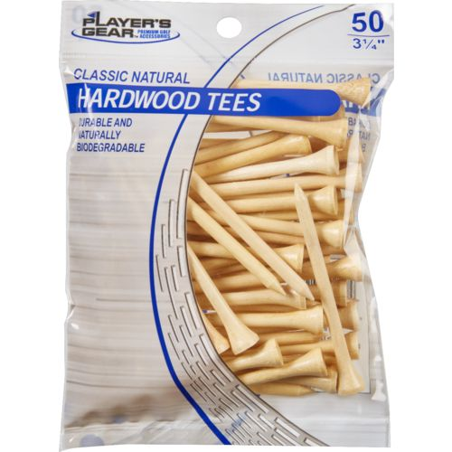 Players Gear 3-1/4 in Natural Hardwood Golf Tees 50-Pack