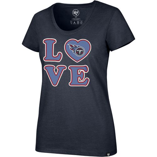 '47 Tennessee Titans Women's Love Club Scoop Neck T-shirt