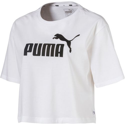 PUMA Women's Essentials Cropped Logo Short Sleeve T-shirt - view number 1